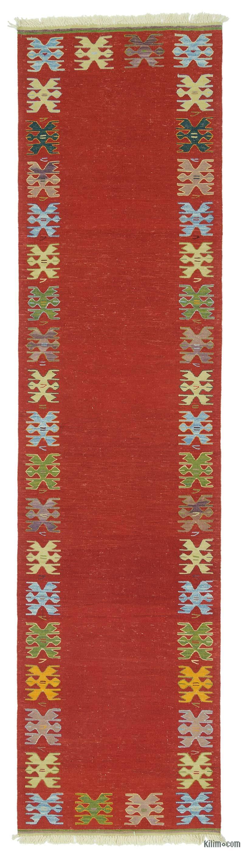 Kırmızı Yeni Kök Boya Yolluk Kilim - 86 cm x 340 cm - K0020738