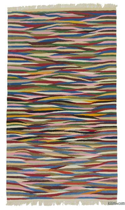 "New Handwoven Turkish Kilim Rug - 3' 5"" x 6'  (41 in. x 72 in.)"