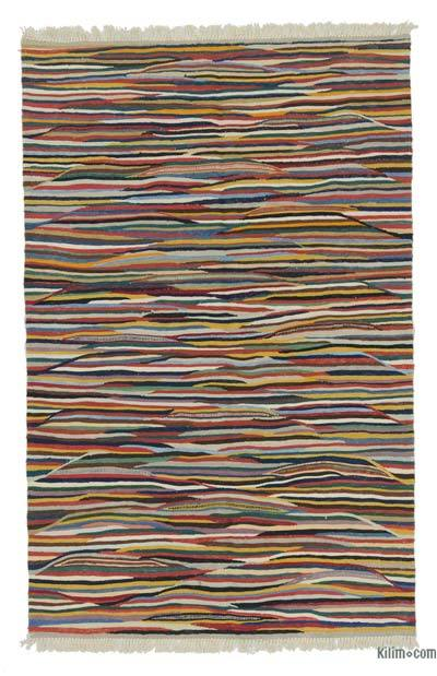 "New Handwoven Turkish Kilim Rug - 4'  x 6' 2"" (48 in. x 74 in.)"