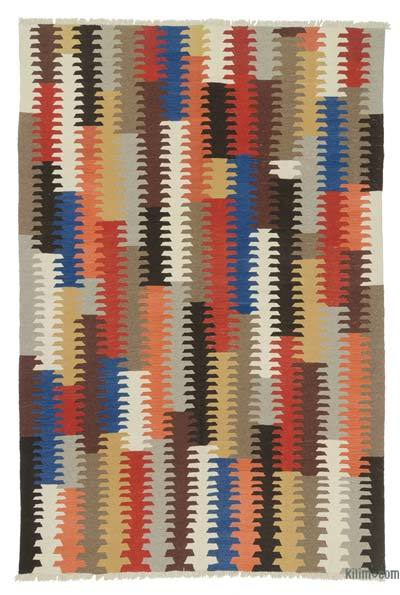 "New Handwoven Turkish Kilim Rug - 6'1"" x 9' (73 in. x 108 in.)"