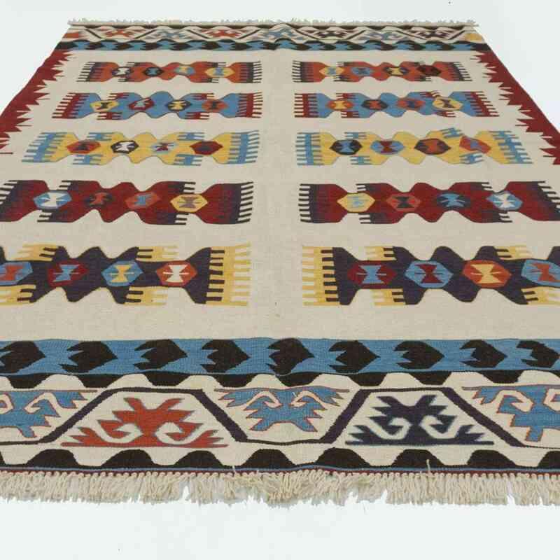 Bej Yeni Kök Boya El Dokuma Kilim - 183 cm x 273 cm - K0020754