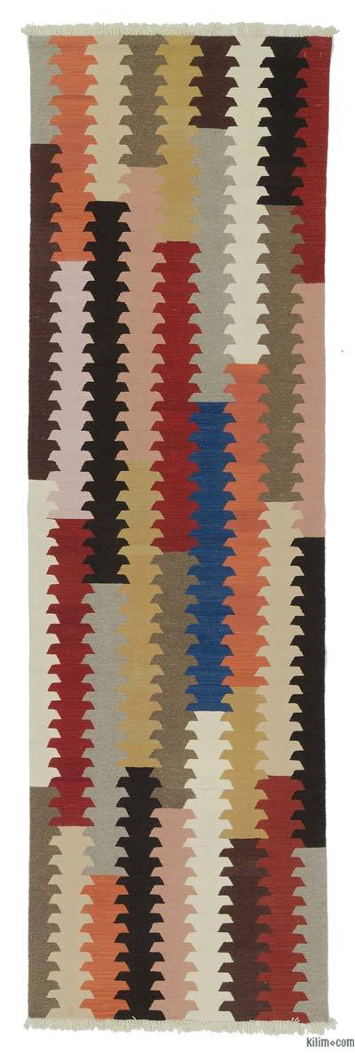 "New Turkish Kilim Runner - 3'  x 10' 1"" (36 in. x 121 in.)"
