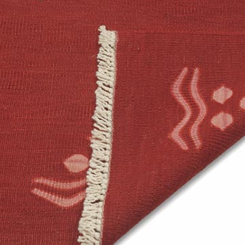Red New Handwoven Turkish Kilim Rug - K0020758