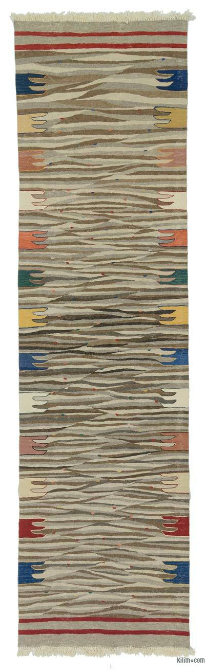 "New Handwoven Turkish Kilim Rug - 2' 9"" x 10'  (33 in. x 120 in.)"