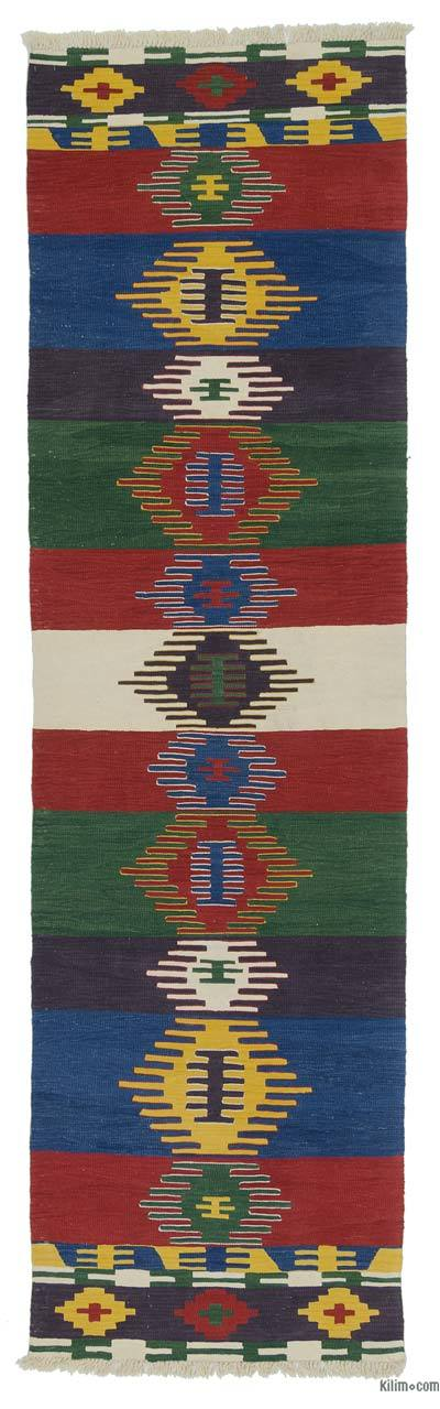 "New Turkish Kilim Runner - 2' 11"" x 10' 5"" (35 in. x 125 in.)"