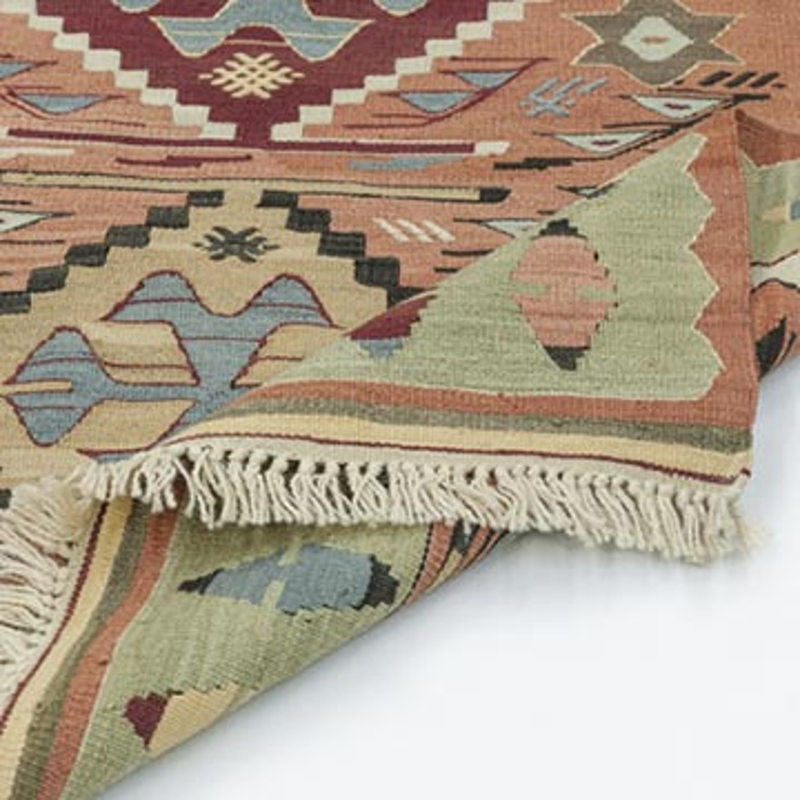 Multicolor New Handwoven Turkish Kilim Rug - K0020801