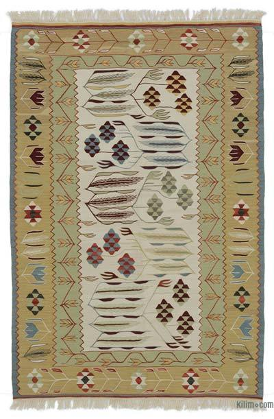 "New Handwoven Turkish Kilim Rug - 3' 10"" x 5' 8"" (46 in. x 68 in.)"