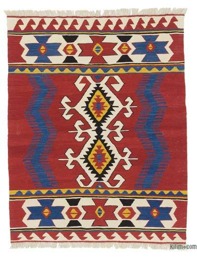 "New Handwoven Turkish Kilim Rug - 3'11"" x 4'11"" (47 in. x 59 in.)"
