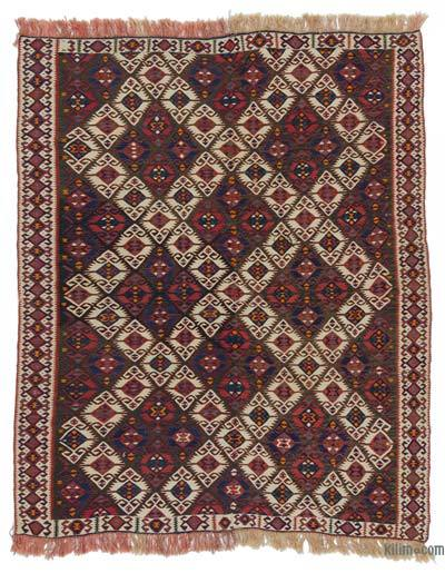 "Antique Van Kilim Rug - 5' 6"" x 6' 11"" (66 in. x 83 in.)"