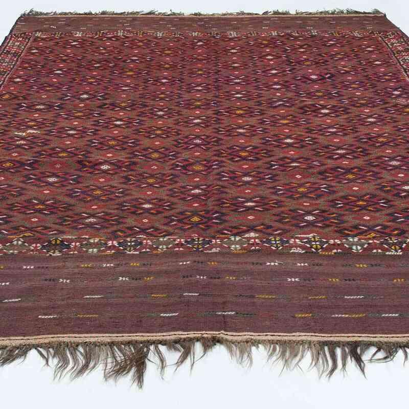 Red Antique Yomut Turkoman Kilim Rug - K0020842