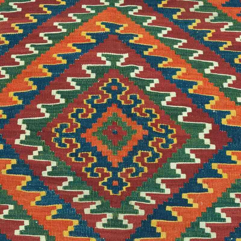 "Red Antique Shahsavan Kilim Rug - 5' 4"" x 9' 9"" (64 in. x 117 in.) - K0020845"