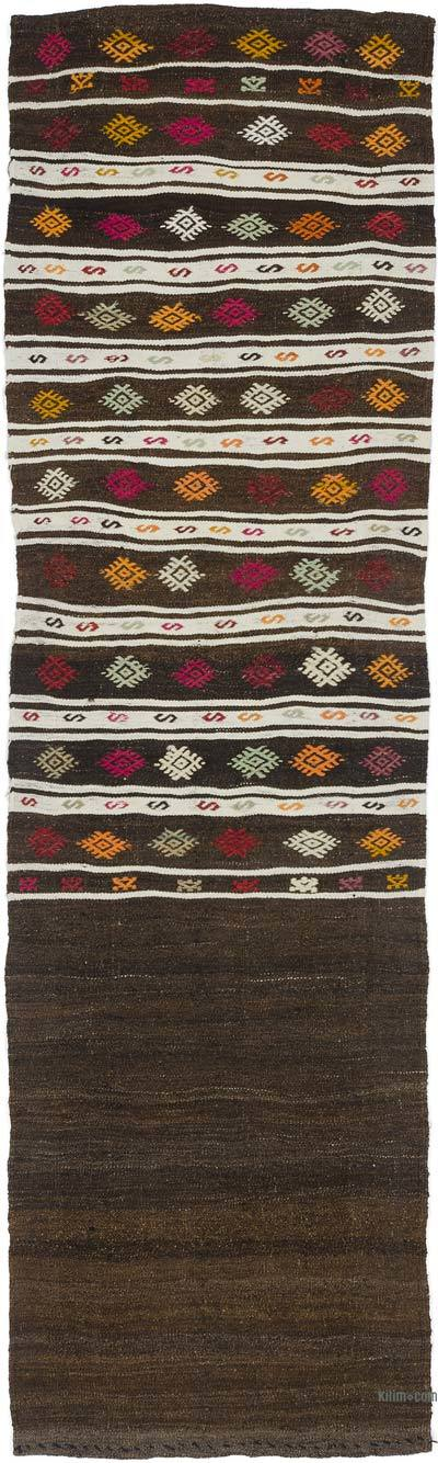 "Vintage Turkish Kilim Runner - 2'4"" x 8'2"" (28 in. x 98 in.)"