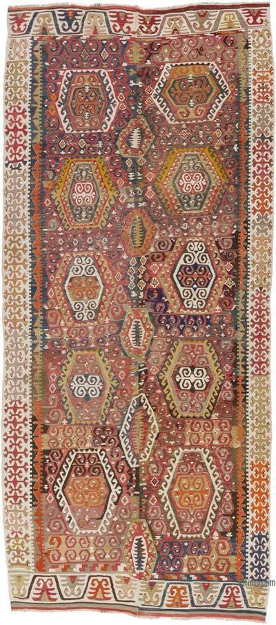 """Vintage Konya Kilim Rug - 5' x 11'6"""" (60 in. x 138 in.)"""
