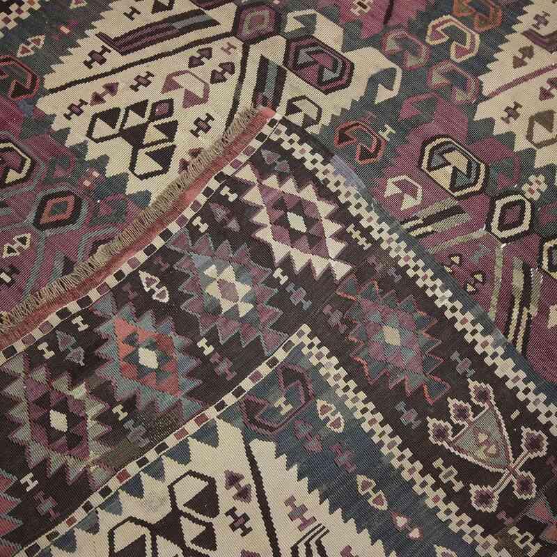Mor Antik Kağızman Kilimi - 132 cm x 390 cm - K0020927