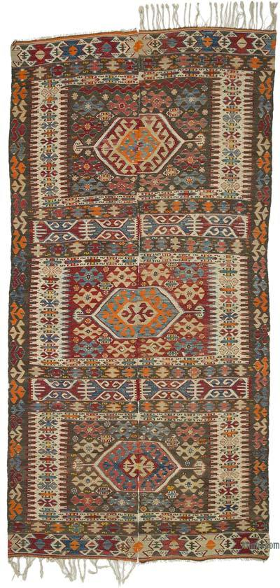 "Antique Aydin Kilim Rug - 5' 11"" x 11' 10"" (71 in. x 142 in.)"