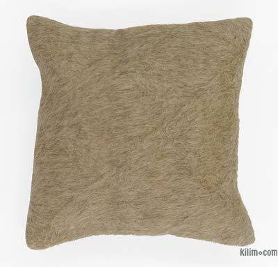 """Beige Pillow Cover - 1' 4"""" x 1' 4"""" (16 in. x 16 in.)"""