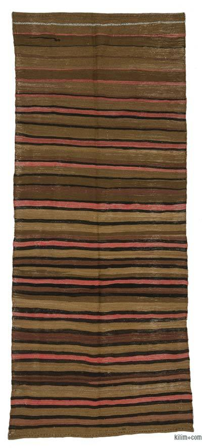 "Vintage Turkish Kilim Rug - 4'4"" x 10'9"" (52 in. x 129 in.)"