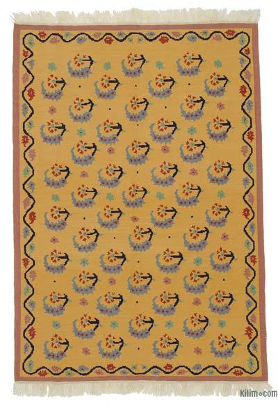 "New Turkish Kilim Rug - 5' 3"" x 7' 7"" (63 in. x 91 in.)"