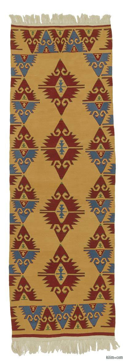 "New Turkish Kilim Rug - 3' 3"" x 9' 7"" (39 in. x 115 in.)"