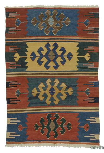 "New Turkish Kilim Rug - 5'  x 7' 4"" (60 in. x 88 in.)"