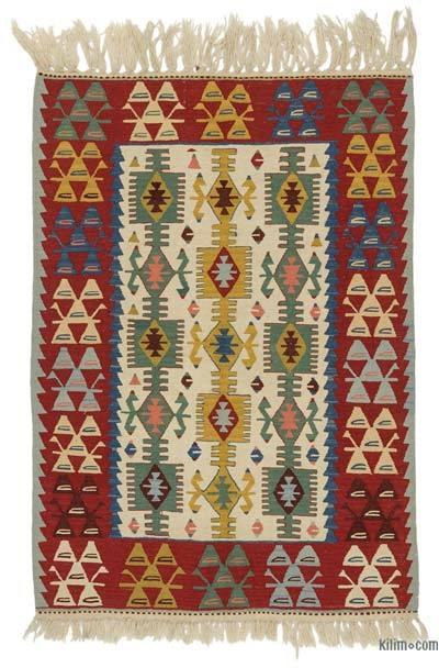 "New Turkish Kilim Rug - 3' 9"" x 5' 4"" (45 in. x 64 in.)"