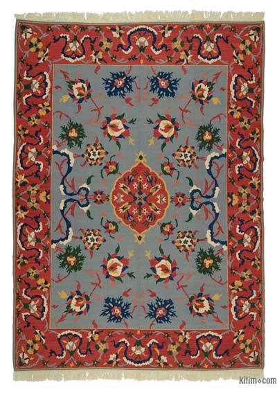 "New Turkish Kilim Rug - 6' 8"" x 13' 1"" (80 in. x 157 in.)"