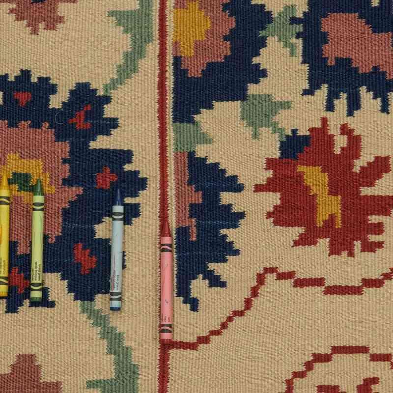 Bej Yeni Kök Boya El Dokuma Kilim - 193 cm x 265 cm - K0021082