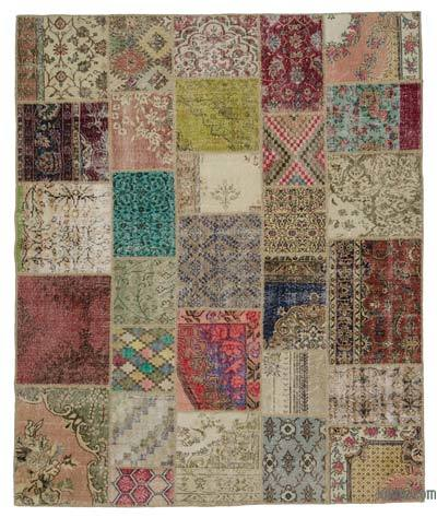 "Turkish Patchwork Rug - 8' 2"" x 9' 10"" (98 in. x 118 in.)"