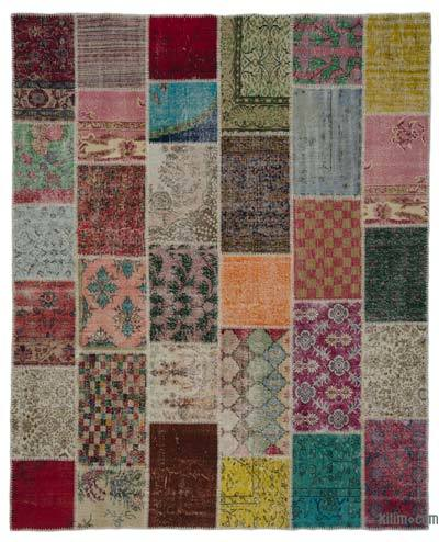 "Turkish Patchwork Rug - 8' 1"" x 10' 2"" (97 in. x 122 in.)"