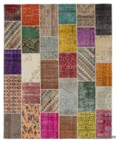 "Turkish Patchwork Rug - 8' 2"" x 10' 1"" (98 in. x 121 in.)"