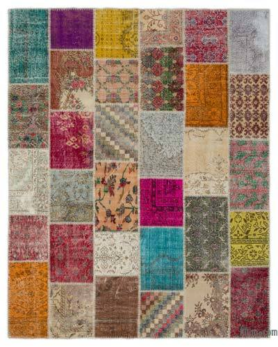 "Turkish Patchwork Rug - 8'1"" x 10'1"" (97 in. x 121 in.)"