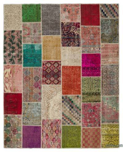 "Turkish Patchwork Rug - 8'  x 10' 1"" (96 in. x 121 in.)"