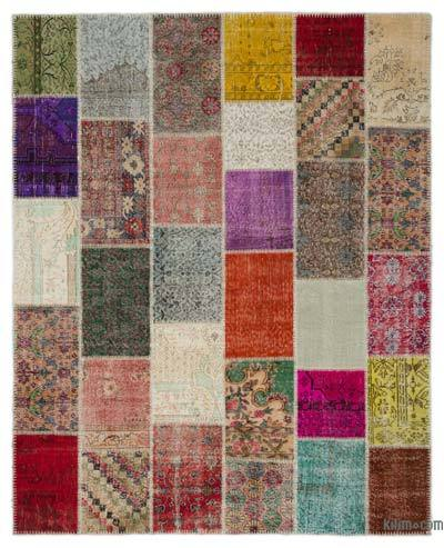 "Turkish Patchwork Rug - 8' 1"" x 10' 1"" (97 in. x 121 in.)"