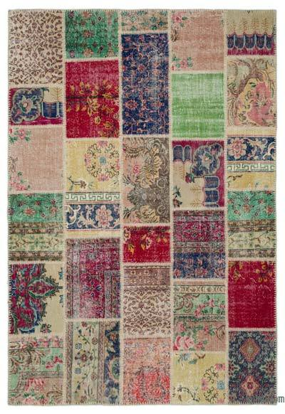 "Turkish Patchwork Rug - 6'4"" x 9'4"" (76 in. x 112 in.)"
