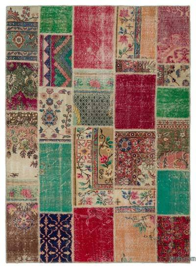 "Turkish Patchwork Rug - 5'5"" x 7'6"" (65 in. x 90 in.)"