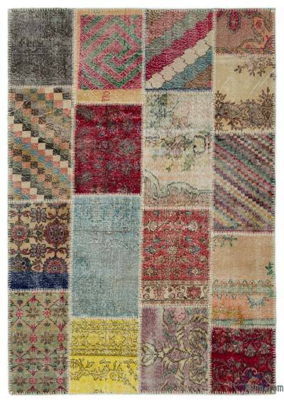 "Turkish Patchwork Rug - 5'3"" x 7'7"" (63 in. x 91 in.)"