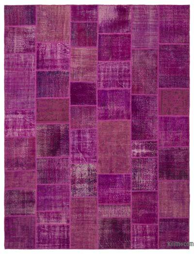 "Over-dyed Turkish Patchwork Rug - 9'1"" x 12' (109 in. x 144 in.)"