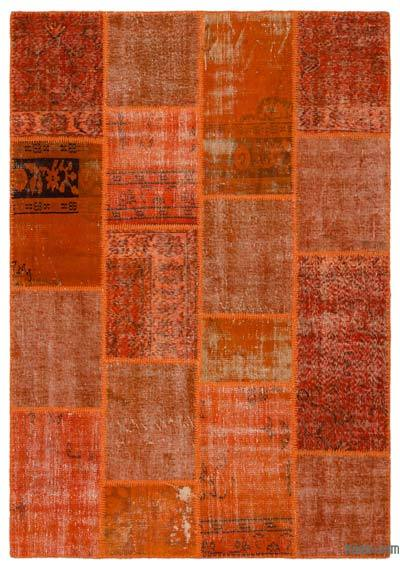 "Over-dyed Turkish Patchwork Rug - 5'4"" x 7'7"" (64 in. x 91 in.)"