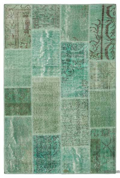 "Over-dyed Turkish Patchwork Rug - 3'11"" x 6' (47 in. x 72 in.)"