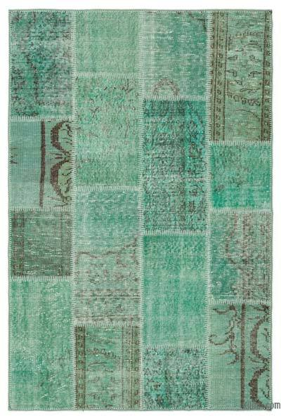 """Over-dyed Turkish Patchwork Rug - 3'11"""" x 6' (47 in. x 72 in.)"""