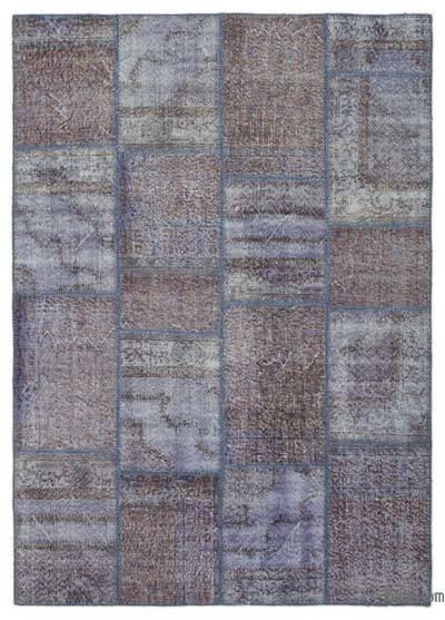 "Over-dyed Turkish Patchwork Rug - 5'5"" x 7'7"" (65 in. x 91 in.)"