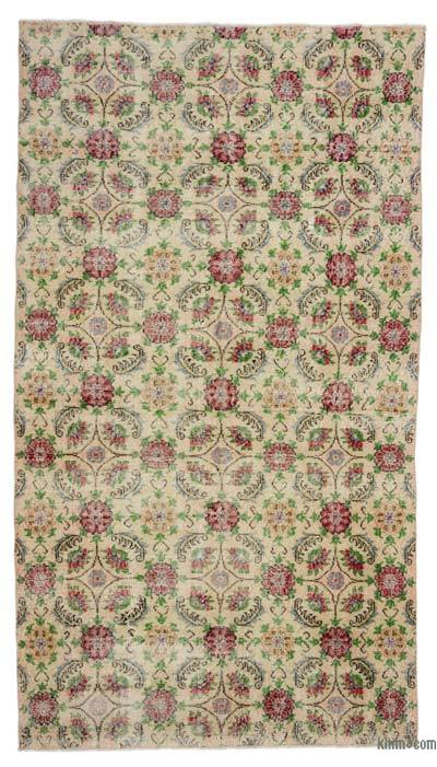 "Turkish Vintage Area Rug - 4' 9"" x 8' 7"" (57 in. x 103 in.)"