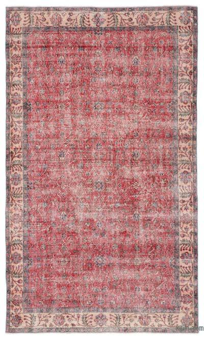 """Turkish Vintage Area Rug - 5'6"""" x 9'4"""" (66 in. x 112 in.)"""