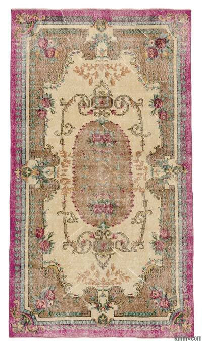 "Turkish Vintage Area Rug - 3' 9"" x 6' 8"" (45 in. x 80 in.)"