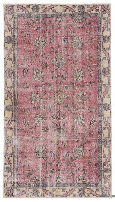 """Turkish Vintage Area Rug - 4'3"""" x 7'9"""" (51 in. x 93 in.)"""