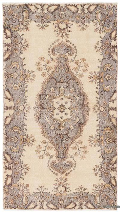 "Turkish Vintage Area Rug - 3'10"" x 7'1"" (46 in. x 85 in.)"
