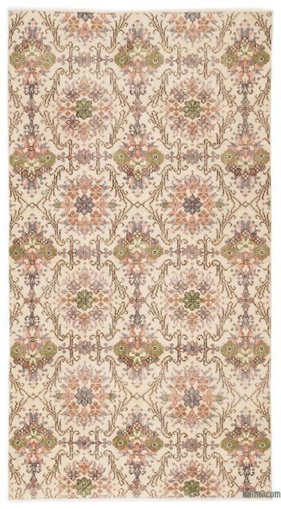 """Turkish Vintage Area Rug - 3'8"""" x 6'11"""" (44 in. x 83 in.)"""