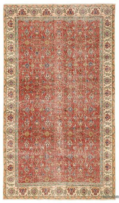 """Turkish Vintage Area Rug - 4'11"""" x 8'7"""" (59 in. x 103 in.)"""