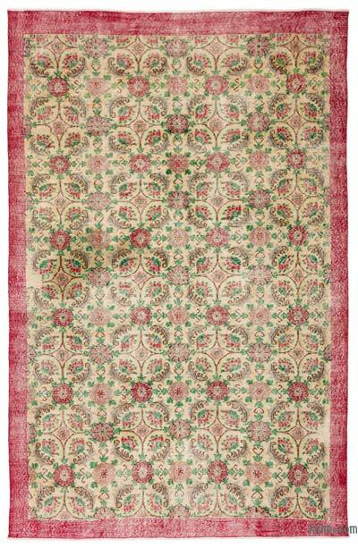 """Turkish Vintage Area Rug - 6' 7"""" x 9' 11"""" (79 in. x 119 in.)"""