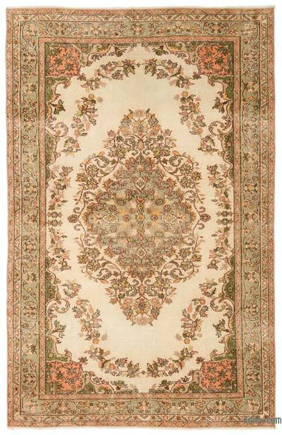 "Turkish Vintage Area Rug - 5'8"" x 8'10"" (68 in. x 106 in.)"